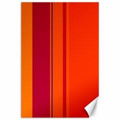 Orange lines Canvas 24  x 36
