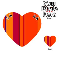 Orange Lines Playing Cards 54 (heart)