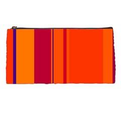 Orange lines Pencil Cases