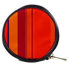 Orange lines Mini Makeup Bags