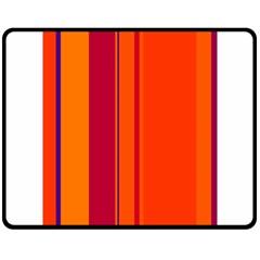 Orange lines Fleece Blanket (Medium)