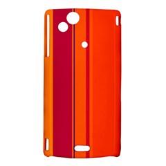 Orange lines Sony Xperia Arc