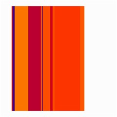 Orange lines Small Garden Flag (Two Sides)
