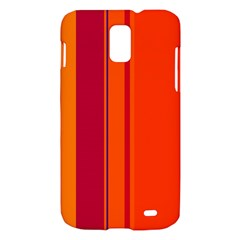 Orange lines Samsung Galaxy S II Skyrocket Hardshell Case