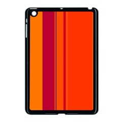 Orange lines Apple iPad Mini Case (Black)
