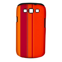 Orange lines Samsung Galaxy S III Classic Hardshell Case (PC+Silicone)