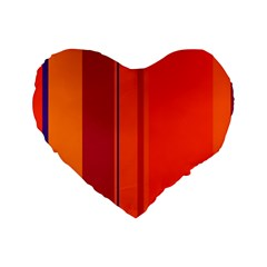 Orange lines Standard 16  Premium Heart Shape Cushions