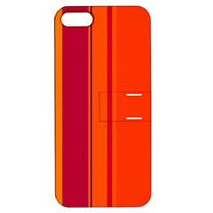 Orange lines Apple iPhone 5 Hardshell Case with Stand