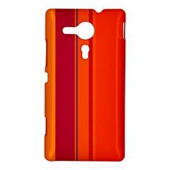 Orange lines Sony Xperia SP