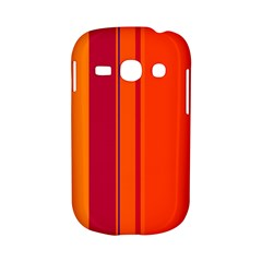 Orange lines Samsung Galaxy S6810 Hardshell Case