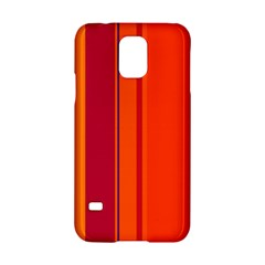 Orange lines Samsung Galaxy S5 Hardshell Case
