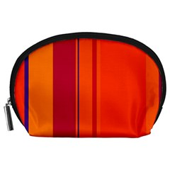Orange lines Accessory Pouches (Large)