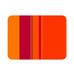 Orange lines Double Sided Flano Blanket (Mini)