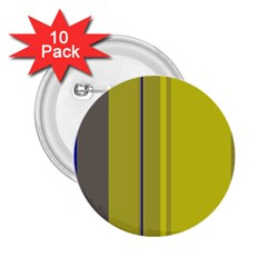 Green elegant lines 2.25  Buttons (10 pack)