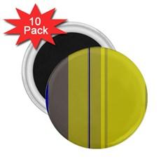 Green elegant lines 2.25  Magnets (10 pack)