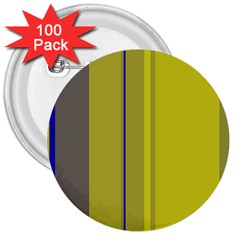 Green elegant lines 3  Buttons (100 pack)