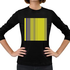 Green elegant lines Women s Long Sleeve Dark T-Shirts