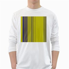 Green elegant lines White Long Sleeve T-Shirts