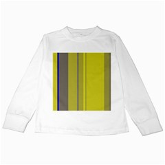 Green elegant lines Kids Long Sleeve T-Shirts