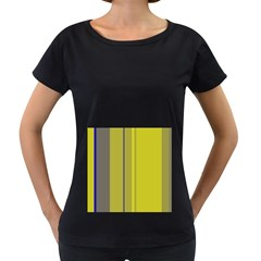 Green elegant lines Women s Loose-Fit T-Shirt (Black)