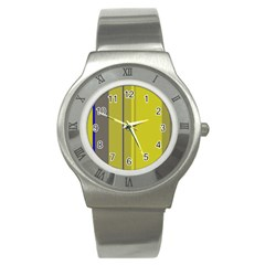 Green elegant lines Stainless Steel Watch