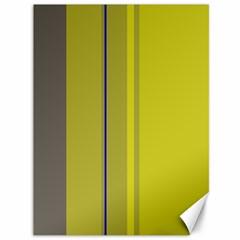 Green elegant lines Canvas 36  x 48