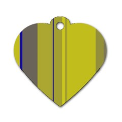 Green elegant lines Dog Tag Heart (Two Sides)