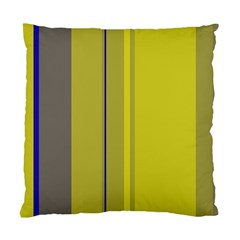 Green elegant lines Standard Cushion Case (One Side)