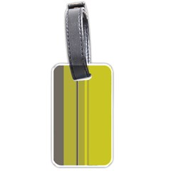Green elegant lines Luggage Tags (One Side)