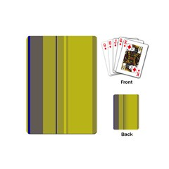 Green elegant lines Playing Cards (Mini)