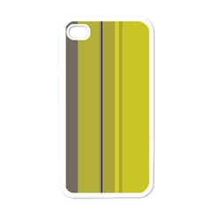 Green elegant lines Apple iPhone 4 Case (White)