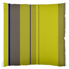 Green elegant lines Large Cushion Case (Two Sides)