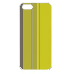Green elegant lines Apple iPhone 5 Seamless Case (White)