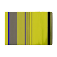 Green elegant lines Apple iPad Mini Flip Case