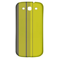 Green elegant lines Samsung Galaxy S3 S III Classic Hardshell Back Case
