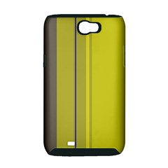 Green elegant lines Samsung Galaxy Note 2 Hardshell Case (PC+Silicone)