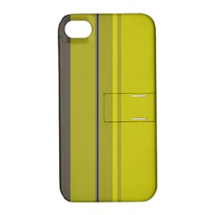 Green Elegant Lines Apple Iphone 4/4s Hardshell Case With Stand
