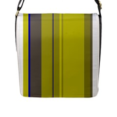 Green elegant lines Flap Messenger Bag (L)