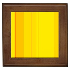 Yellow lines Framed Tiles