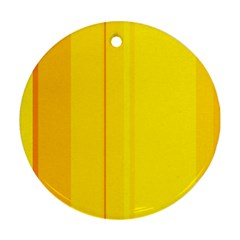 Yellow lines Ornament (Round)