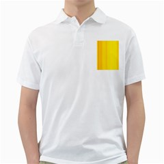 Yellow lines Golf Shirts