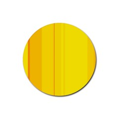 Yellow lines Rubber Coaster (Round)
