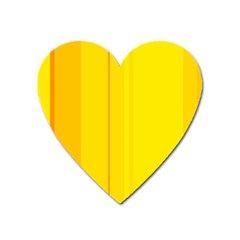 Yellow lines Heart Magnet