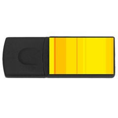 Yellow lines USB Flash Drive Rectangular (1 GB)