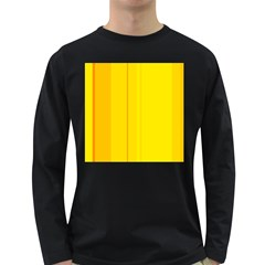 Yellow lines Long Sleeve Dark T-Shirts