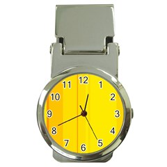 Yellow lines Money Clip Watches