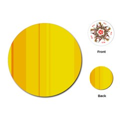 Yellow lines Playing Cards (Round)