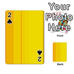 Yellow lines Playing Cards 54 Designs