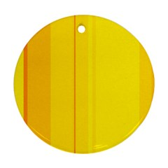 Yellow lines Round Ornament (Two Sides)