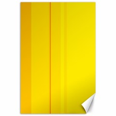 Yellow Lines Canvas 24  X 36